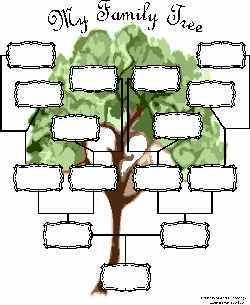 FREE Interactive Printable Family Tree. Fill in the fields before or
