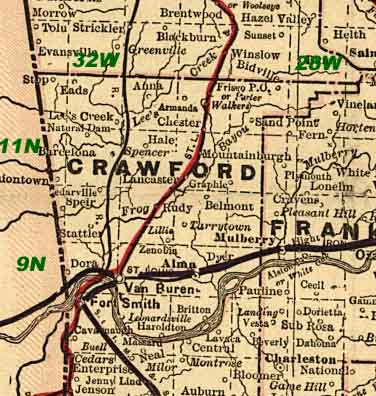 Crawford County Arkansas Map Index - Counties in arkansas map