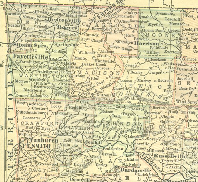 Crawford County Arkansas Map Index - Arkansas county map