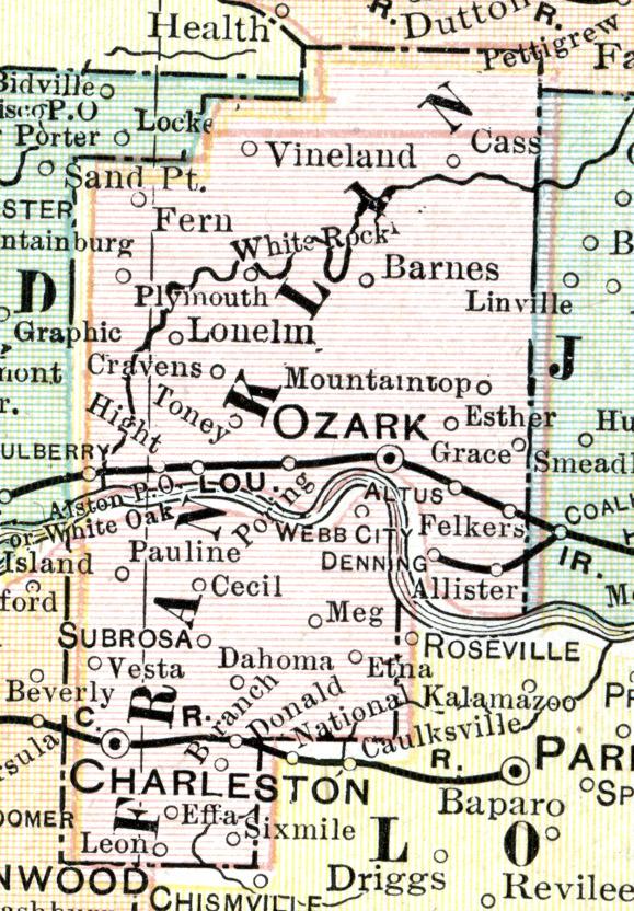 Outline Map Cram Map U S Atlas1895
