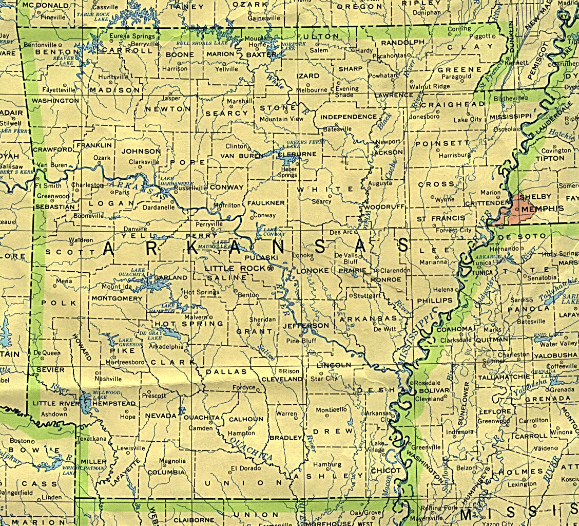 Assortment Of Maps For Arkansas And Franklin County