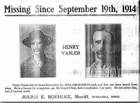 Greene County, Arkansas - Wanted Posters - Henry Vasler