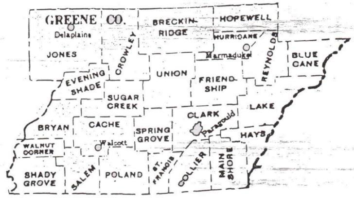 Greene County Arkansas Township Map