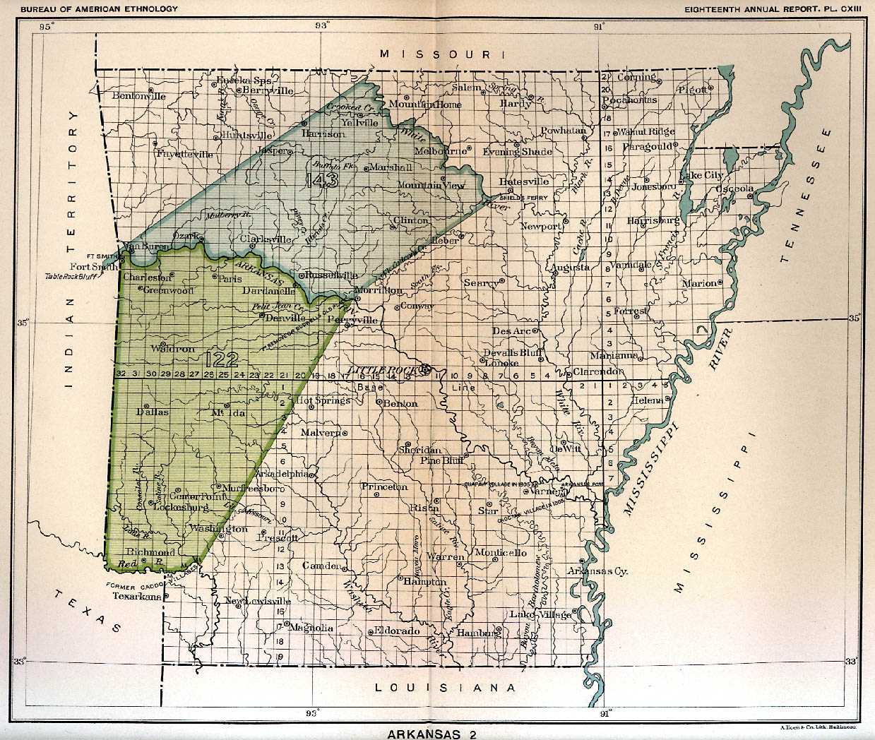 The ARGenWeb Project Arkansas - Map of us indian reservations