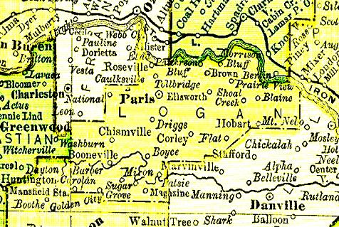 logan county argenweb site Logan County Arkansas Map 1895 map of logan county logan county arkansas map