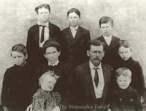 Photo of James A M Stonecipher Family of Marion Co AR