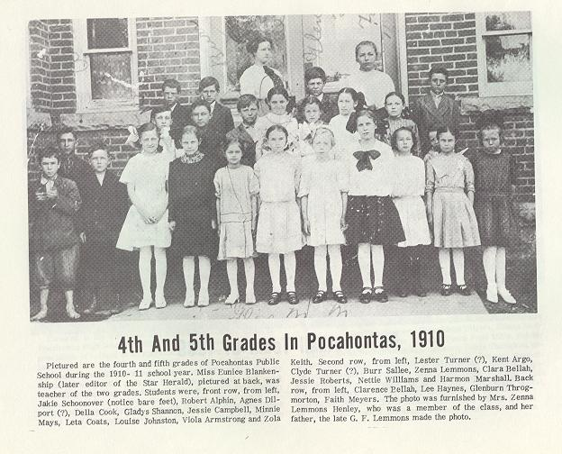 Lester Glenn Ford >> Schools In The Long Ago in Randolph County