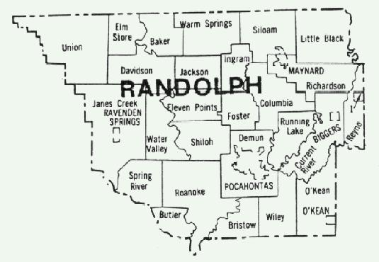 MAPs Randolph County And Related Maps - Map of arkansas counties