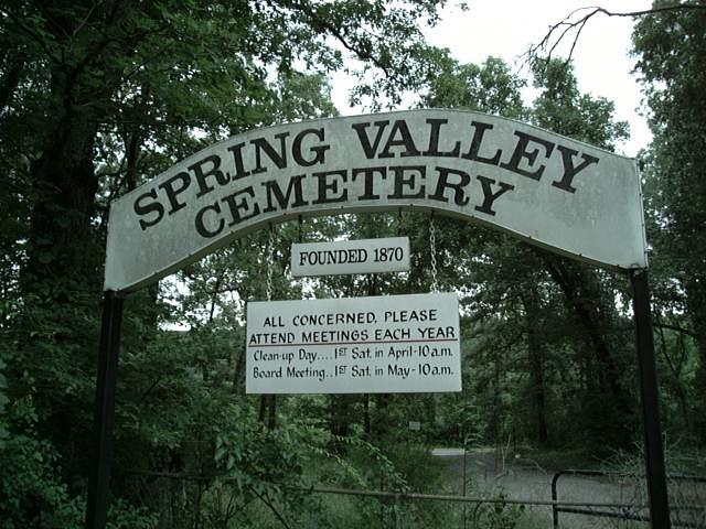 Spring Valley Cemetery - Pulaski Co. AR